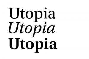 Utopia Mibestseller tipografía autoedición.